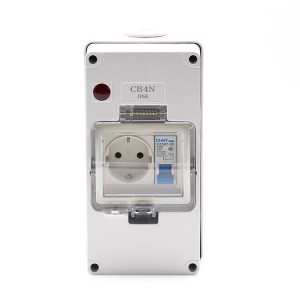 Hot New Products Outdoor 13a Socket - 1 Gang RCD + 1 Gang German(EU) Socket – Ohom