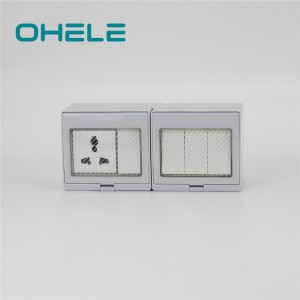 2020 Latest Design Industrial Power Socket - 4 Gang Switch + 1 Gang Multi-function Socket – Ohom