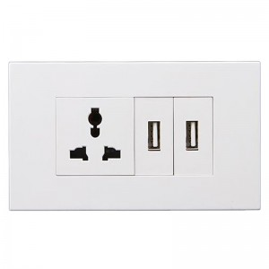 Good Quality Wall Switch Socket - 1 Gang Multi-function Socket+2 Gang USB – Ohom