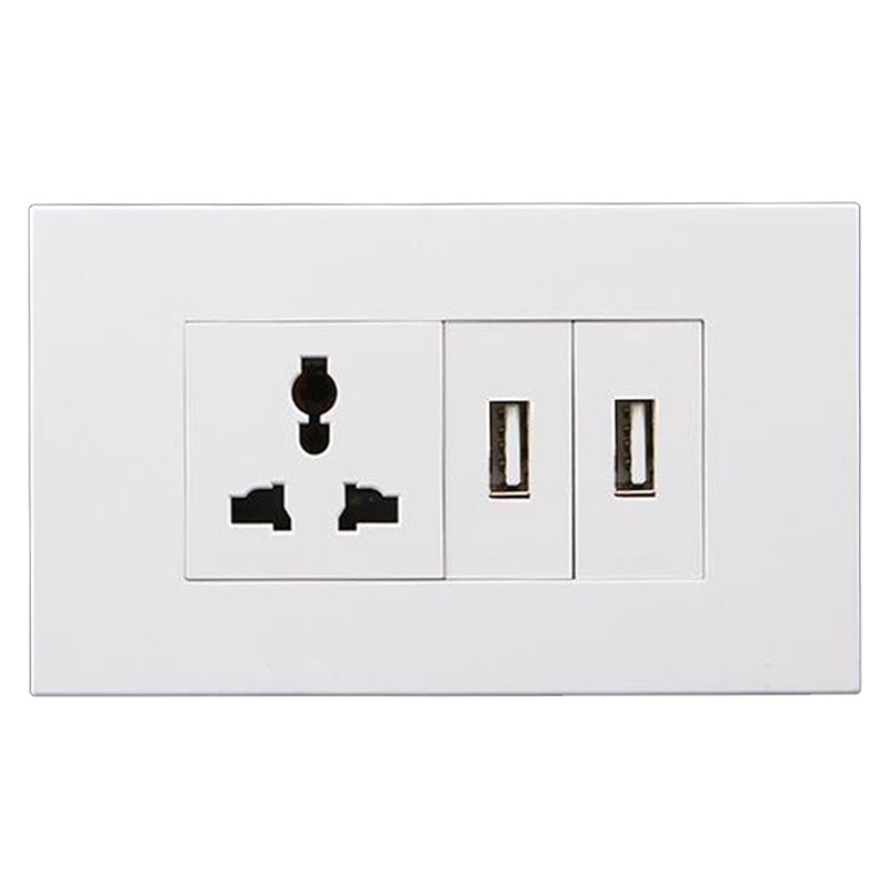 Factory Price Plug Socket Faceplates - 1 Gang Multi-function Socket+2 Gang USB – Ohom
