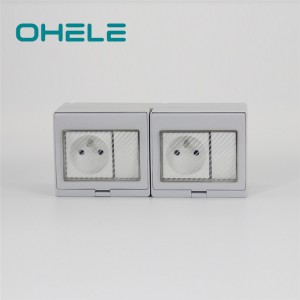 Super Lowest Price Wiring Multiple Outlets - 2 Gang Switch + 2 Gang French Socket – Ohom