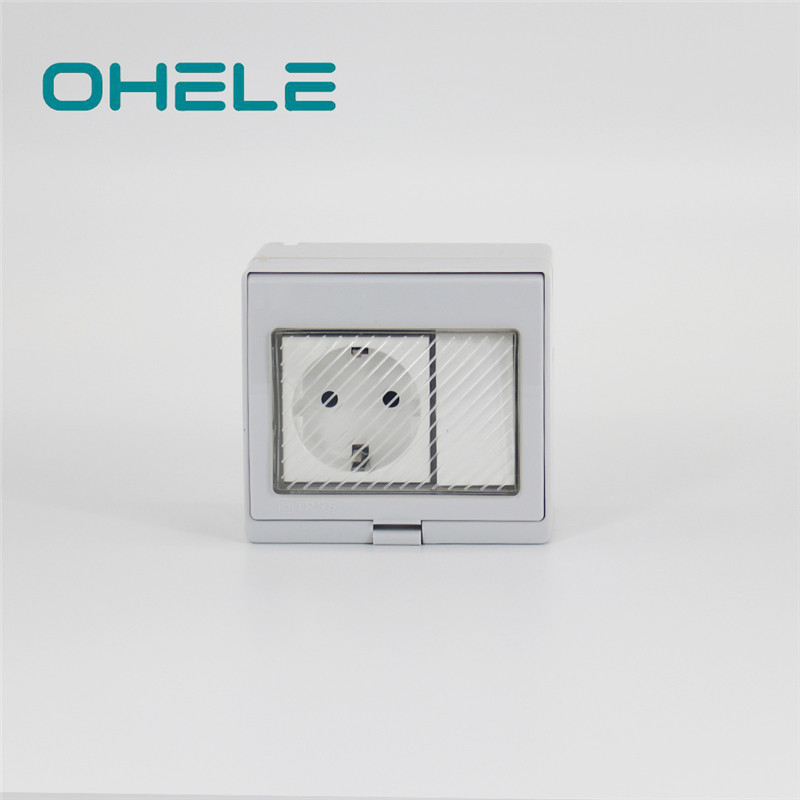 Reasonable price for Push Button Timer Switch - 1 Gang Switch + 1 Gang German(EU) Socket – Ohom Featured Image