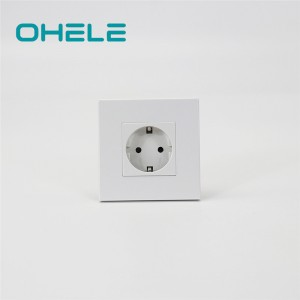 Professional Design Three Pin Wall Socket - 1 Gang German(EU) Socket – Ohom