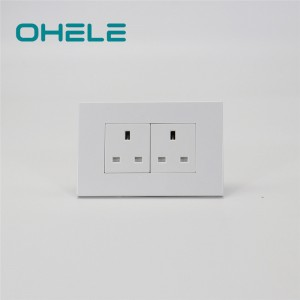100% Original Electrical Wall Outlet Types - 2 Gang UK Socket – Ohom