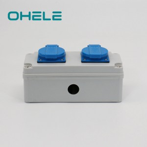 Hot Sale for Waterproof Pendant Switch - 2 Gang Swiss Socket – Ohom