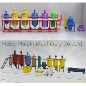 Factory supplied Coconut Oil Extraction Machine - Crude Cooking Oil Refining Unit – Huipin