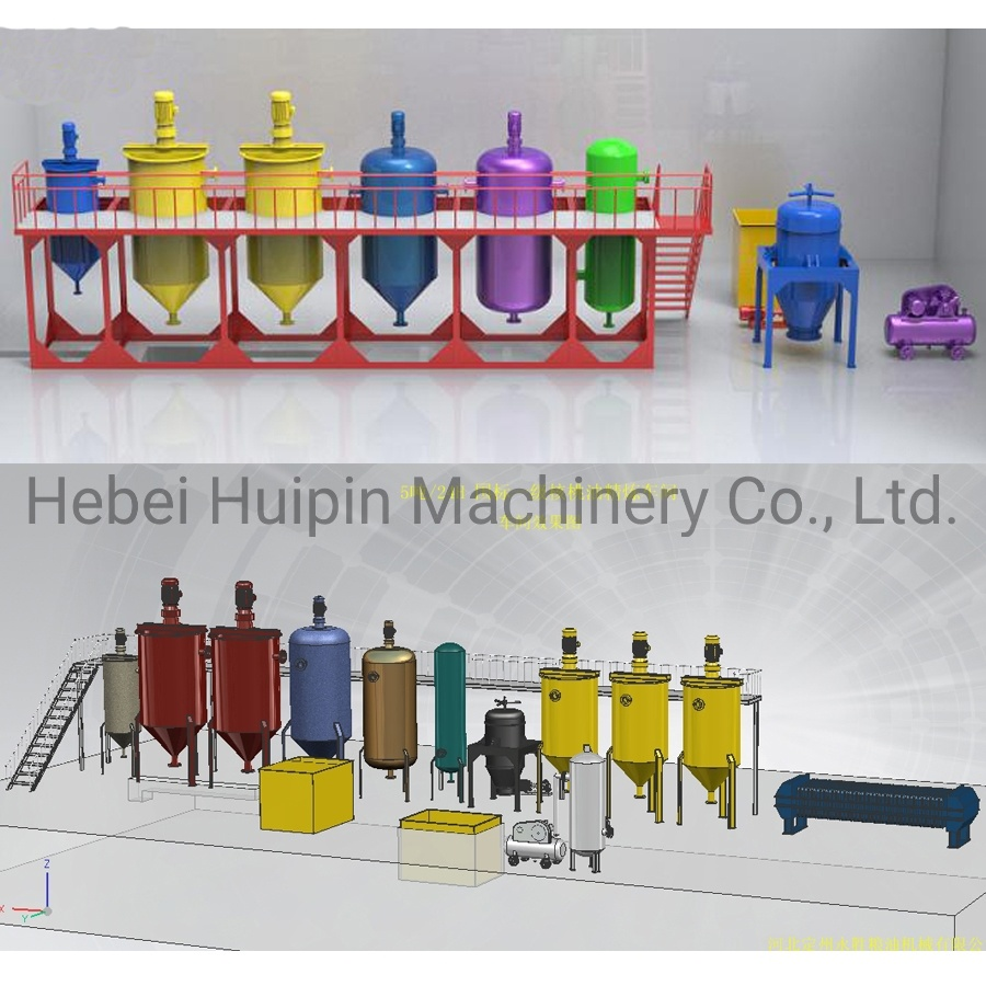 Crude Cooking Oil Refining Unit