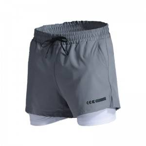 Blank Custom 2 In 1 Lined Athletic Running Shorts Jogger Mens Sports Shorts