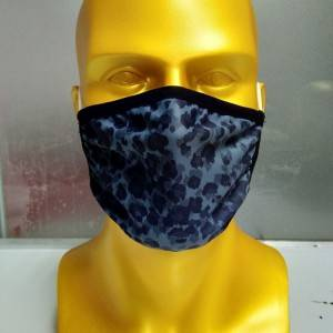 Wholesale 2 layer printed flat knitted cloth mask