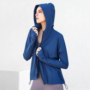 Breathable Running Sports Wear for Ladies Yoga Hoodies Jackets with Full Zip
