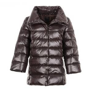 Classic simple design winter real fur down jacket women clothing short coat