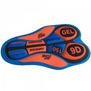 Silicone gel cycling pad Cycling gel pad COOLMAX cycling padding with sublimation print