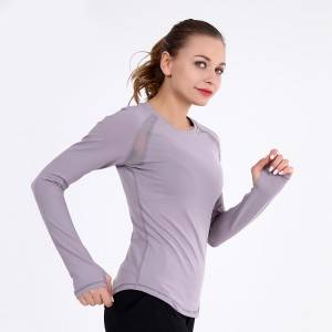 Women's Yoga Gym Sports Top Compression Workout Athletic Long Sleeve Shirt