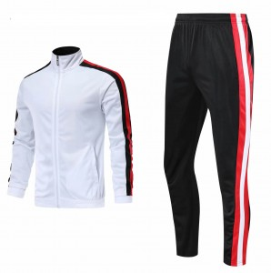 Men 95% Polyester 5% Spandex Made Sportswear Training and Workout Tracksuit