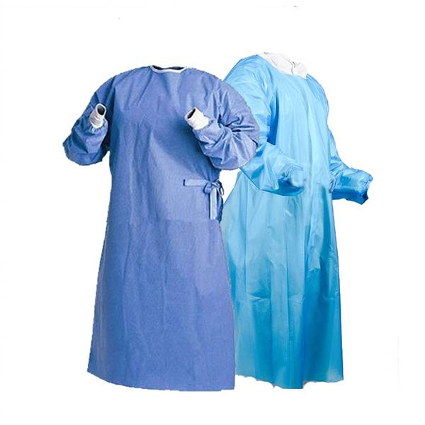Medical disposable PE isolation gown