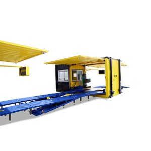 Mobile containerized Inspection lane