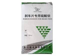 Barium sulphate for brake pads