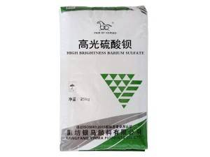 High gloss barium sulphate