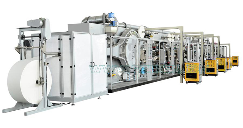 2019 High quality Sanitary Napkin Making Machine - Full-servo Control Bar Type Package Winged Sanitary Napkin Production Line – Peixin