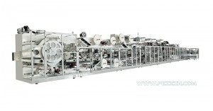 Full-servo Control Elastic Laminated Waistband Baby Diaper Production Line