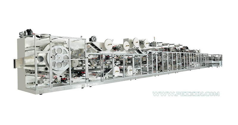 Low price for Machines Produce Baby Diapers Line - Full-servo Control Elastic Laminated Waistband Baby Diaper Production Line – Peixin Featured Image