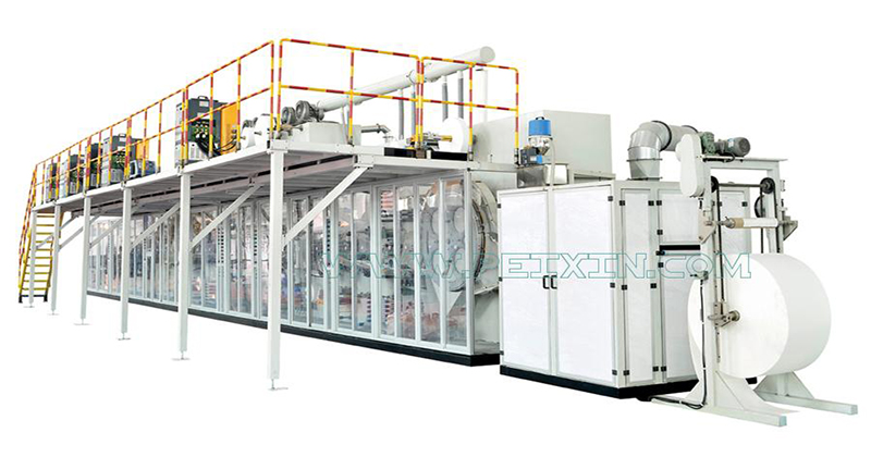 Short Lead Time for Diaper Production Machine Line - Full-servo Full-function Elastic Ear Baby Diaper Production Line (T shape) – Peixin