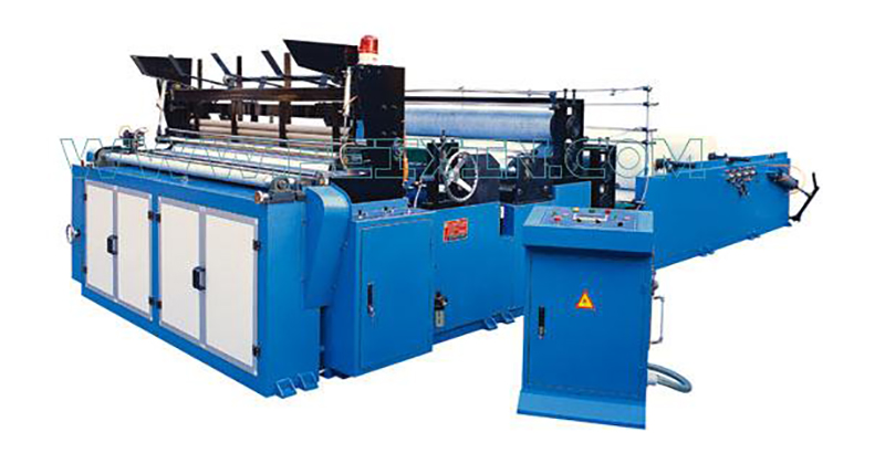 Good Quality Rewinder Machine - Series of Full-automatic Edge-trimming Tail-gluing Embossing Rewinding and Perforating Toilet Paper Machine – Peixin