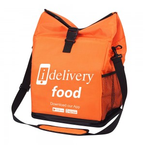 Polyester thermal insulated food delivery and reusable grocery bag for restaurants, delivery drivers, uber