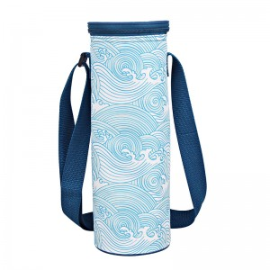 polyester wine bottle cooler bag