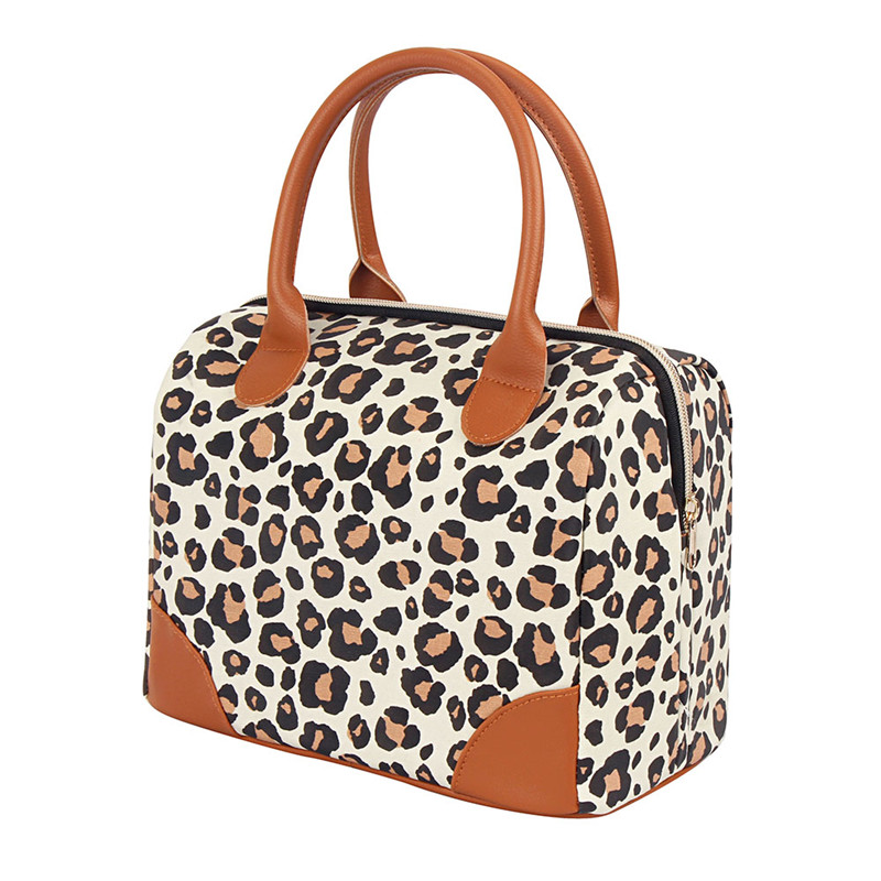 Discount wholesale Lunch Container - Leopard-print Pattern Lunch Bag With logo printed  – Picvalue