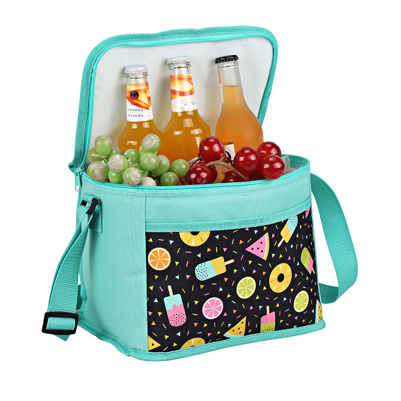 Well-designed Rolling Soft Cooler Bags - Polyester fabric cooler bag 10L with fashion design pocket   – Picvalue detail pictures