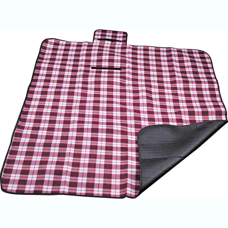 Trending Products Packable Picnic Blanket - Polyester fleece picnic mat blanket with waterproof backing – Picvalue