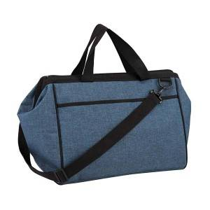 Matt polyester canvas cooler bag with shoulder strap