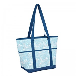 Polyester shopping cooler bag for beach