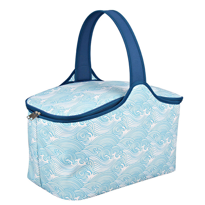 High Quality Double Decker Cooler Bag - Polyester fabric picnic cooler basket for family party – Picvalue