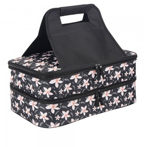 Double deck casserole carrier bag