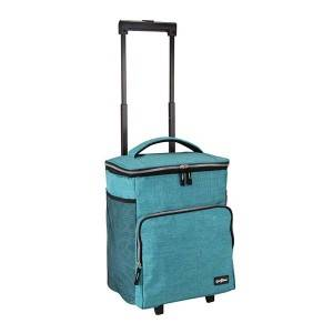Polyester matt cationic canvas trolley cooler bag in good quality