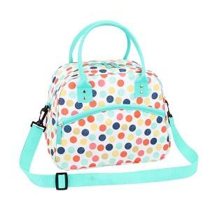 Canvas Polyester cooler bag with fashion pattern
