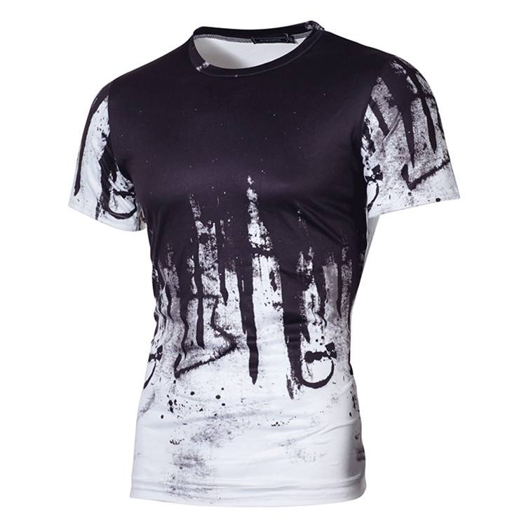 Printing Stylish Short Sleeve Men T-Shirt  PY-ND003 Featured Image