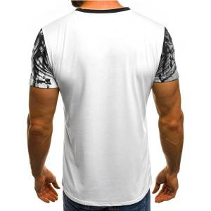 Printing Stylish Short Sleeve Men T-Shirt  PY-ND003