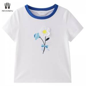 8 Years Old Short Sleeve Girl T-Shirt PY-GD001