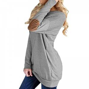 Plain Cotton Long Sleeve Women T-Shirt PY-CT001