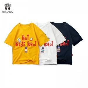 100% Cotton Short Sleeve Boy T-Shirt PY-TD002