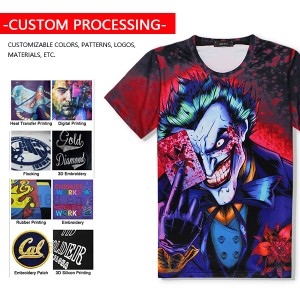Factory wholesale sales short sleeve Summer clothes Custom printed T-shirt