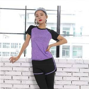 Yoga clothing suit women's casual quick-drying running gym sportswear suit