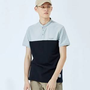 2021 men's summer new style cotton lapel color-blocking short-sleeved polo shirt wholesale  PY-PL002