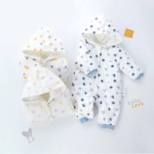 Thickening Warm Hoodies Baby Romper Suit PY-YR009