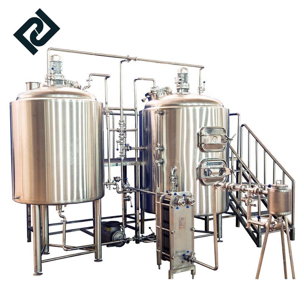 Factory wholesale 2 Vessel Brewhouse - small scale beer brewing equipment stainless steel beer brewing equipment beer factory equipment – Pijiang