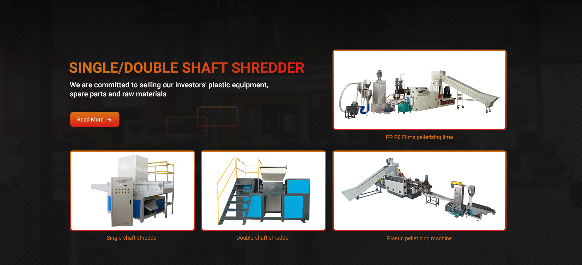 Single/double shaft shredder