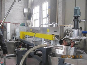 Top Quality Pet Bottle Recycling To Fiber Machine - parallel twin screw extruder  – Riching Machinery